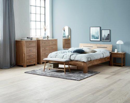 Estrutura de cama OLSKER 180x200 carv