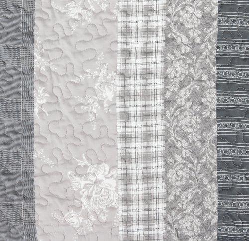 Couv. matelassée KORNBLOMST 140x200 gris