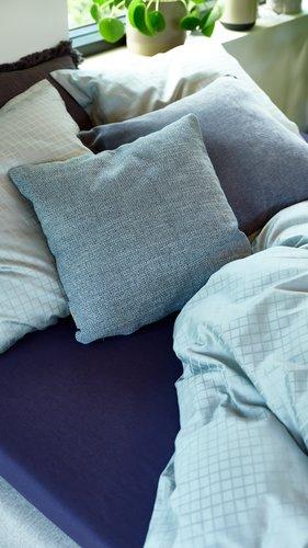 Sengesæt INGEBORG Satin grøn/blå 140x220
