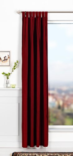 Zavesa LUPIN 1x140x300 im.svile bordo