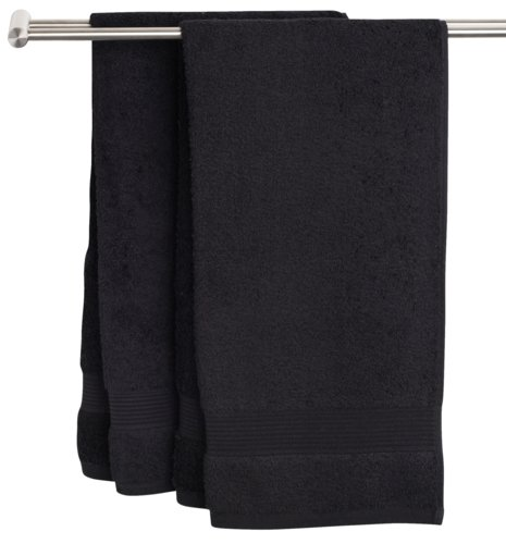 Bath sheet KARLSTAD 100x150 black