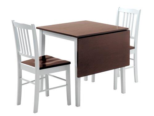 Tafel L75/115 + 2 stoelen BRANDERUP