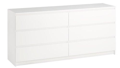 3+3 συρτ. συρταριέρα TANGBJERG λευκό