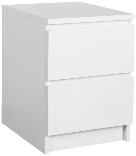 Yöpöytä LIMFJORDEN 2 laatikkoa valkoinen