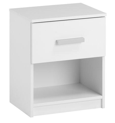 Stolik nocny TAPDRUP 1 szuflada biały