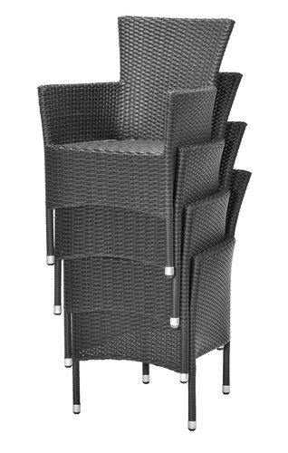 Stacking chair AIDT black