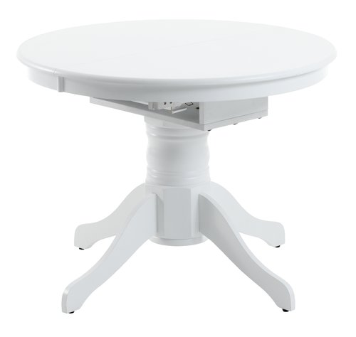Dining table ASKEBY D100 w/leaf white