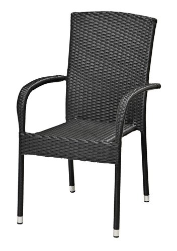 Stacking chair HALDBJERG black