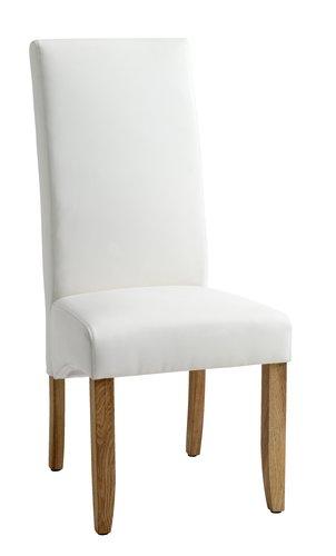 Krzesło BAKKELY skóra ekologiczna krem.