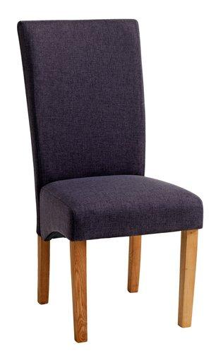 Krzesło BORUP materiał naturalny/szary