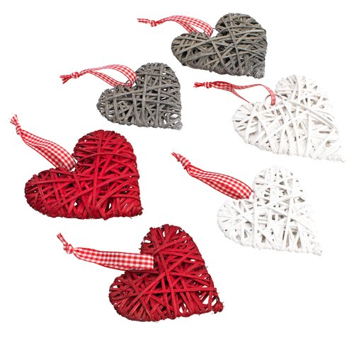 Decoratiune brad SILL inimă 6buc/pac