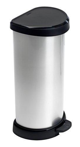 Pedaalemmer ULRIK 40L kunststof zilver