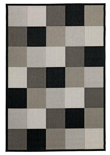 Rug RIPS 130x193 black/beige