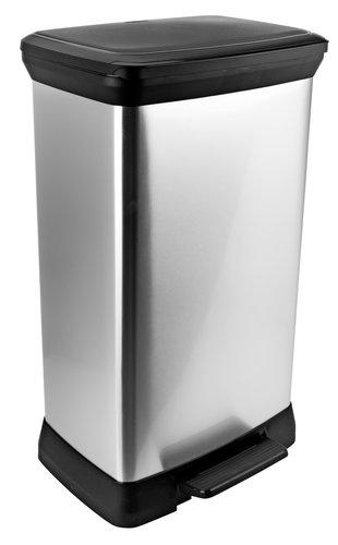 Pedalspand ULRIK 50L plast/sølv