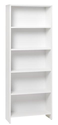 Bookcase GISLINGE 5 shlv. white
