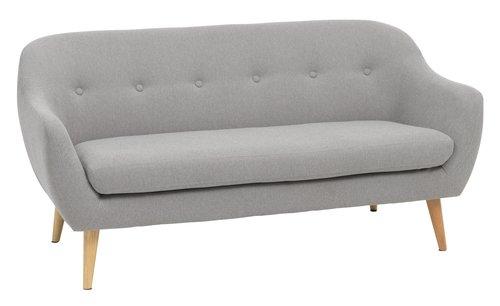 Sofa EGEDAL 2.5-seater light grey
