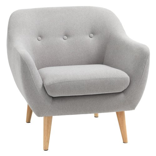 Armchair EGEDAL light grey
