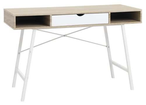 Desk ABBETVED 48x120 oak/white