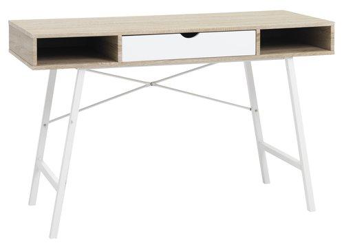 Písací stôl ABBETVED dub/biela