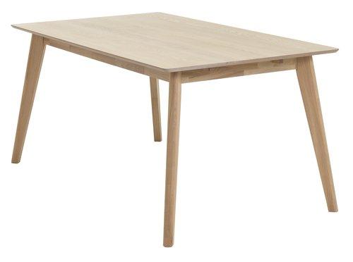 Spisebord KALBY 90x160/250 lys eik