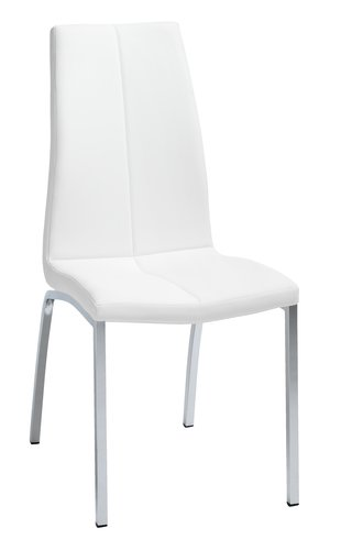 Dining chair HAVNDAL white/chrome