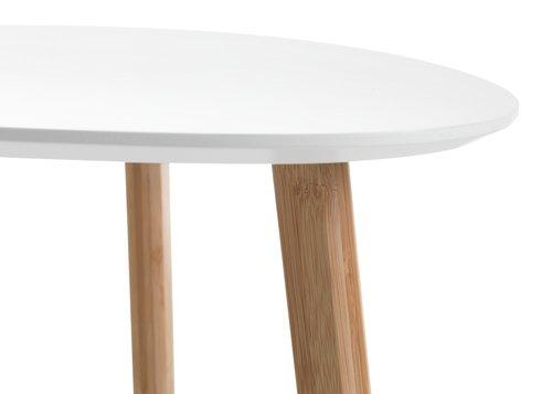 Mesa auxiliar TAPS 55x55 blanco/bambú
