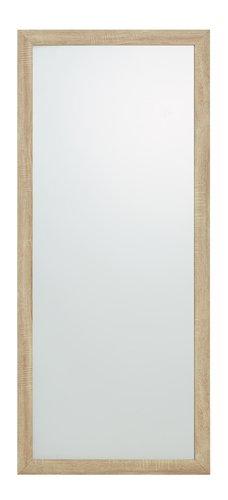 Zrcadlo HALLUND 70×160 cm broušený dub