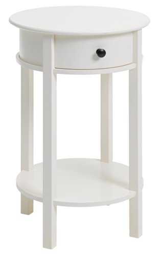 Bedside table EGEBY 1 drw white