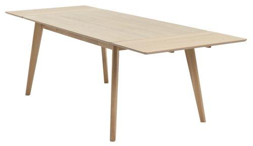 Jedál. stôl KALBY 90x160/250 svetlý dub
