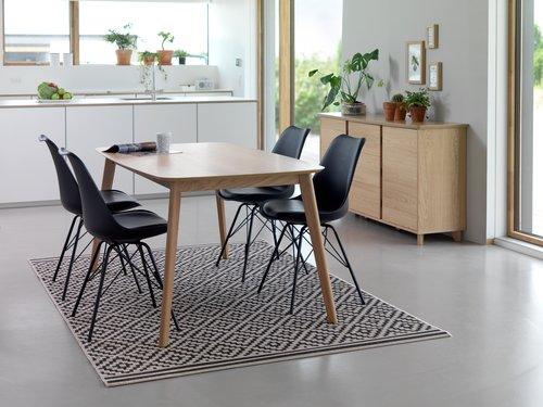 Spisebord BREDEBRO 90x150 eik