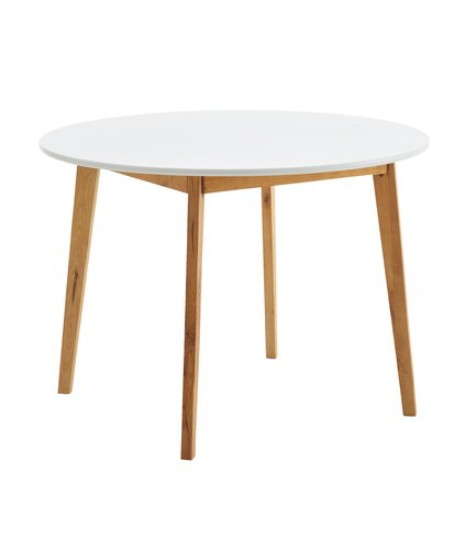Dining table JEGIND D105 white/natural