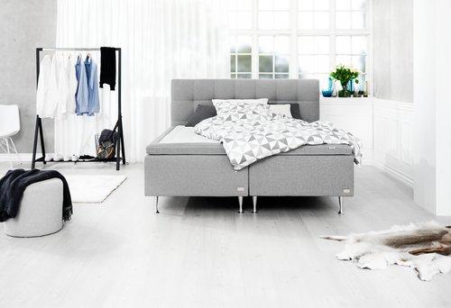 Sengegavl HØIE H50 STITCH 150x125 grå-23