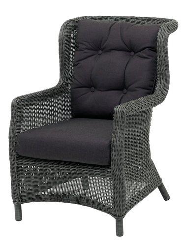 Fauteuil lounge FALKENBERG gris