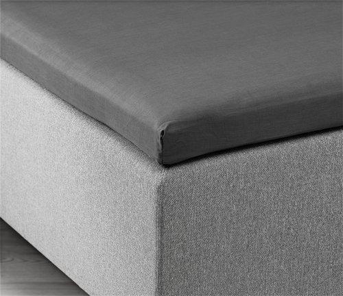Enveloppe laken 180x200x6-10 grijs