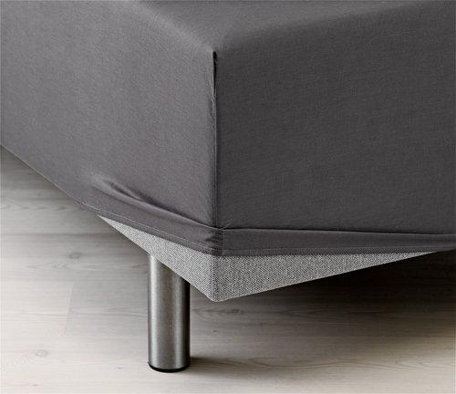 Hoeslaken 140x200 grijs KRONBORG
