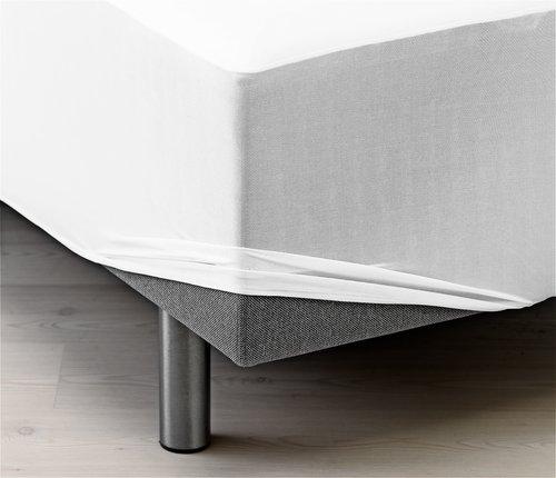 Sábana ajust imperm. 90x200x20 cm blanco