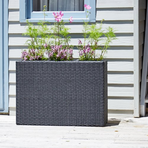 Planter box STOKKAND W30xL84xH60 black