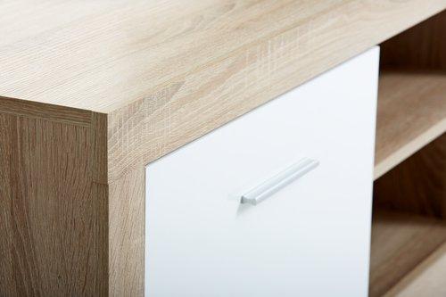 Stolik tv FAVRBO 2-drzw. dąb/biały