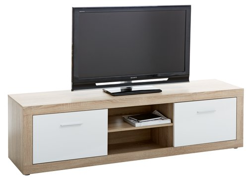 tv bord favrbo 2 l ger eg hvid jysk. Black Bedroom Furniture Sets. Home Design Ideas