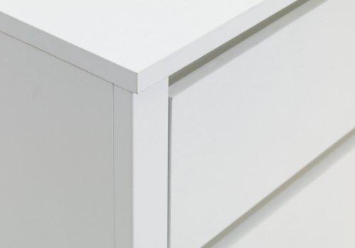 Komoda VEDDE 3 ladice bijela