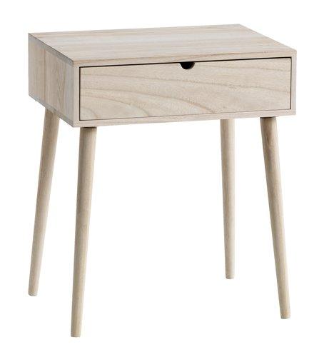Bedside Table ILBRO 1 Drawer Natural JYSK
