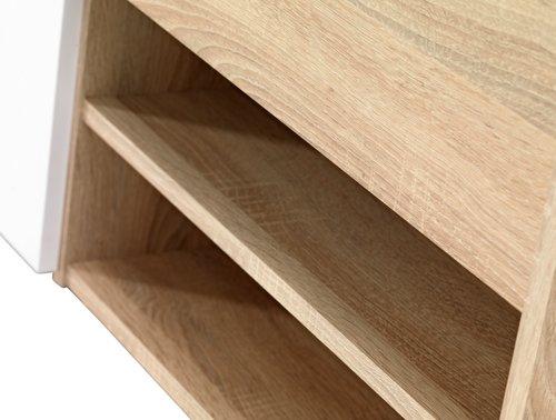 Cadru de pat FAVRBO 180x200 stejar/alb