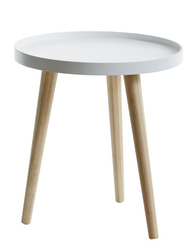 Tray table BAKKEBJERG D40 white/natural