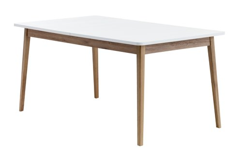 Eettafel GAMMELGAB 160/200 eiken/wit