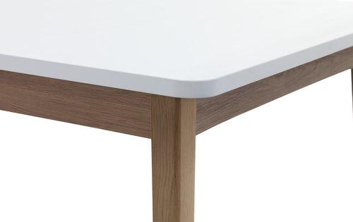 Ruokapöytä GAMMELGAB 160/200 tammi/valk.