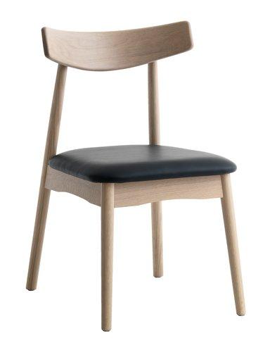 Ruokapöydän tuoli LYNGHOLM tammi/musta