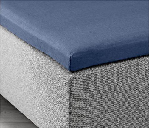 Hoeslaken topper 180x200x6-10 blauw