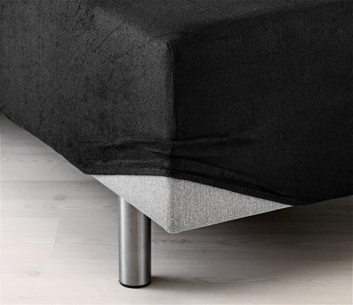 Stretchfrotté 80x200/210x40cm svart