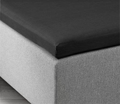Kuvertlagen 140x200x6-10cm sort