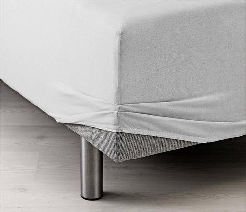 Drap-housse Jersey 90x200x40cm blanc
